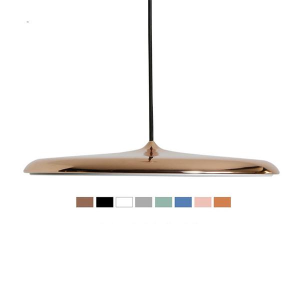 Modern Pendant Lights Flying Scucer Ceiling Hanglamp E27 LED Acryl Hanging Lamp for Dining Room Living Room Study Parlor