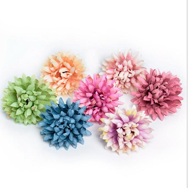 Großhandel 300 stücke Kleine chiffion Daisy Gerbera Handgemachte Künstliche Chrysantheme Blüte Für Hochzeitsdekoration DIY Kranz baby shower