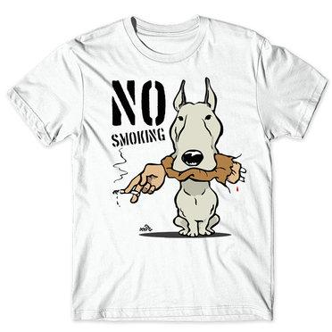 Bite t shirt No smoking dog short sleeve tees Pug eat hand singlet Fastness printing clothing Quality modal Tshirt