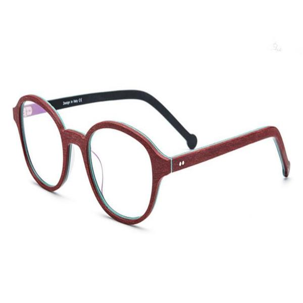 MONGOTEN Retro Unisex New Fashion Full Rim Acetate Clear Lens Myopia Eyewear Frame Goggle Brand Design Optical Eyeglasses Frame