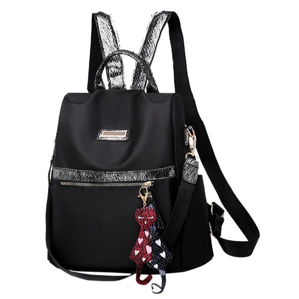 Frauen Kleine Nylon Wasserdichte tuch schwarz Rucksack Weibliche 2019 Neue Koreanische Kleine Reiserucksack Lässig StudentAnti-Diebstahl Freizeit