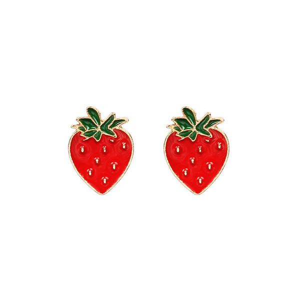 Alloy Jewelry Main Material and Earrings Jewelry 6 style cartoon fruit stud earrings cartoon earring free shipping