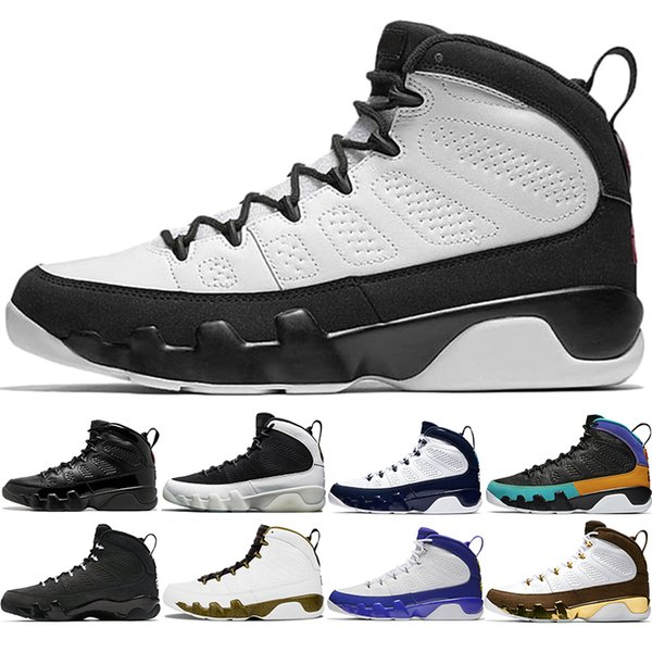 9 s Erkekler Basketbol Ayakkabıları 9 UNC Mavi Rüya Onu, Bred Tur Sarı Antrasit Getirdi Yeni Tasarımcı Eğitmen Spor Sneakers Boyutu 41-47