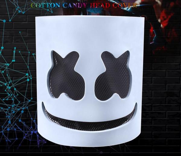 DJ marshmello mask cartoon Halloween Cosplay Headgears Bar Music helmet party decor stage performence Props Without LED FFA2281