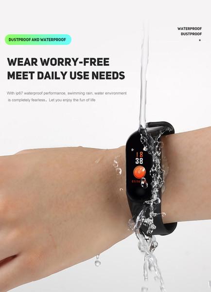 M3 band 3 Smart Wristband Фитнес-трекер Браслет Водонепроницаемый Bluetooth SmartWatch LED Сообщение Монитор сердечного ритма умный браслет
