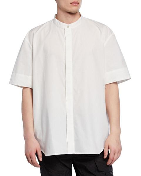 Chemise de brouillard peur de Dieu les hommes et les femmes col chemise polo tshirt shorts de polo designer mens t shirts femmes couple marée blanc noir tee HFSSTX255
