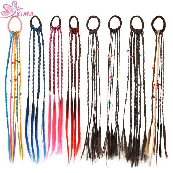 1pc Women Elastic Hair Band Twist Wig Headband Bohemian Braided Headband For Kid Elastic Hair Rubber Band Hair Clip Accories