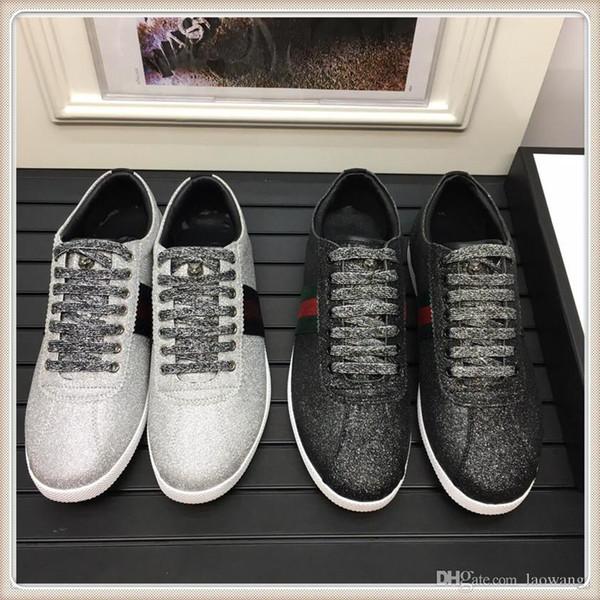 Alta Qualidade Fashion Shoes Mens Luxo Sneaker Com Box Shoes Casual Tamanho Fast Ship 38-45
