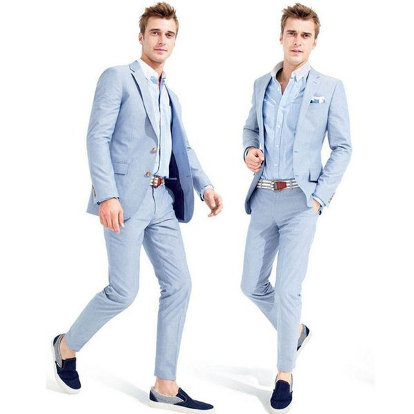 Popular Men's Suit Suit Slim fit party groom groom's best man Official custom jacket + pants