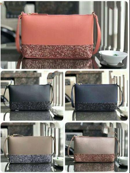 5 renkler marka tasarımcısı glitter omuz çantaları Çapraz Vücut kadınlar için crossbody çanta çift fermuarlar pu çantalar