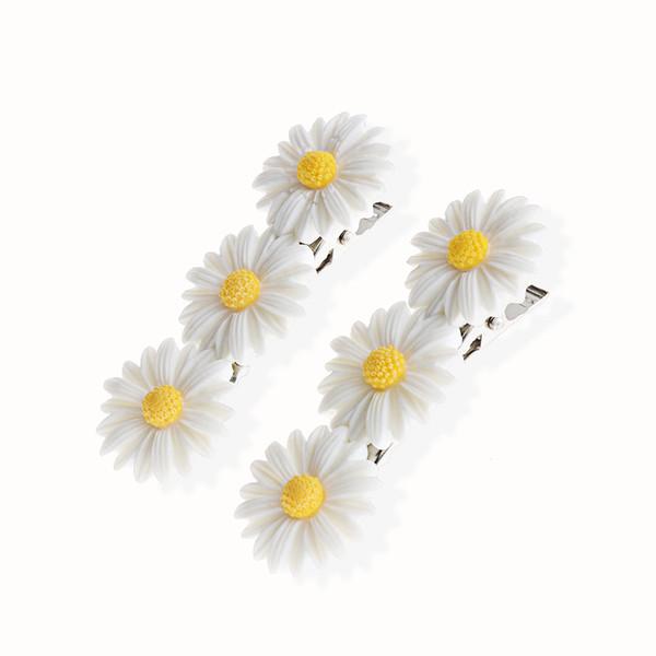 2 Adet Halat Bantları Tokalar At Kuyruğu Sevimli Papatya Çiçek Saç Klip Moda Elastik Saç Halka Kadın Kızlar Çocuklar Tutucu Aksesua ...