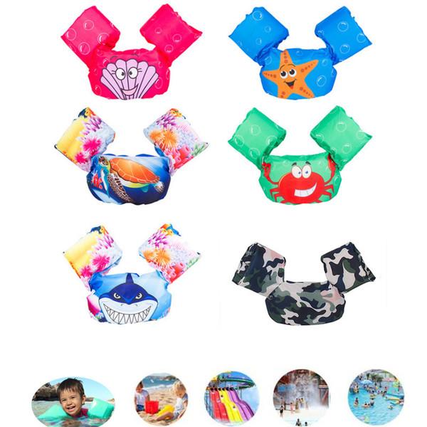 Jumper de poça Piscina Dos Desenhos Animados Colete Salva-vidas Colete de Segurança Para As Crianças Do Bebê Asd88 C19041201