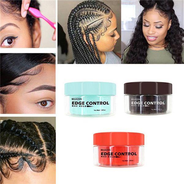best selling Unisex Hair Oil Wax Cream Pomade Edge Control Hair Styling Cream Broken Hair Finishing Anti-Frizz Fixative Gel