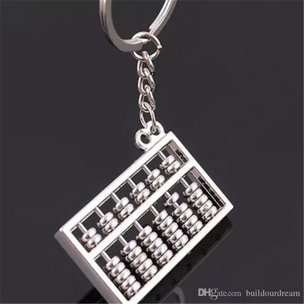 -Chaves chineses Abacus Calculator presentes dos miúdos chave ABAKUS cadeia Ábaco Ábaco liga de zinco chaveiros titular chaveiro 2018111003