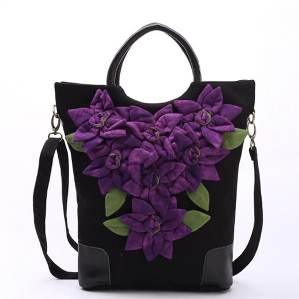 Hot Fashion Stickerei Frauen Casual Tote! Schöne Floral Gestickte Dame Canvas ShoulderHandbags Vielseitige Vintage Crossbody Taschen