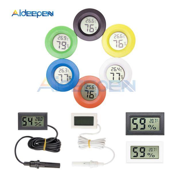 top popular Mini Digital LCD Thermometer Hygrometer Indoor Convenient Temperature Sensor Humidity Meter Detector Fridge Freezer Tester Gauge 2021
