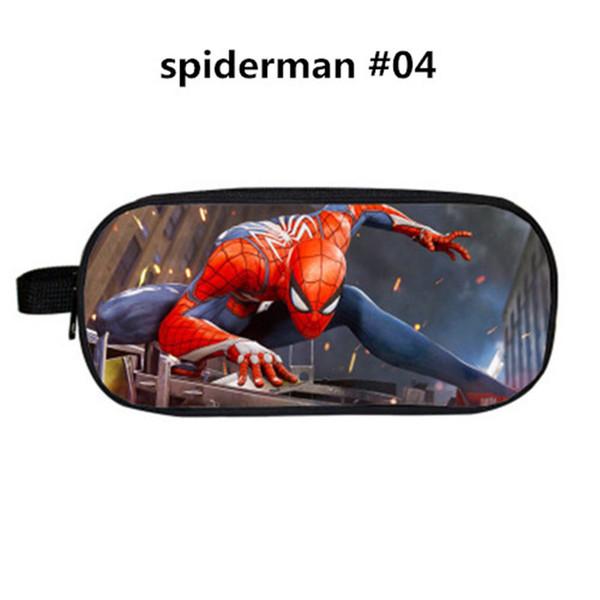 34 Style Design Spiderman Astuccio per matite in poliestere Cartone animato Borse per borse Fornitura per studenti Borsa per archiviazione di cancelleria di grande capacità Borsa per bambini