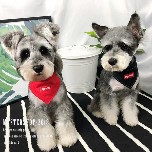 SUP Haustier Hundehalsband Flut Marke Pet Pinafore mit Stickerei Logo Mode Katze Hundehalsband für Outdoor