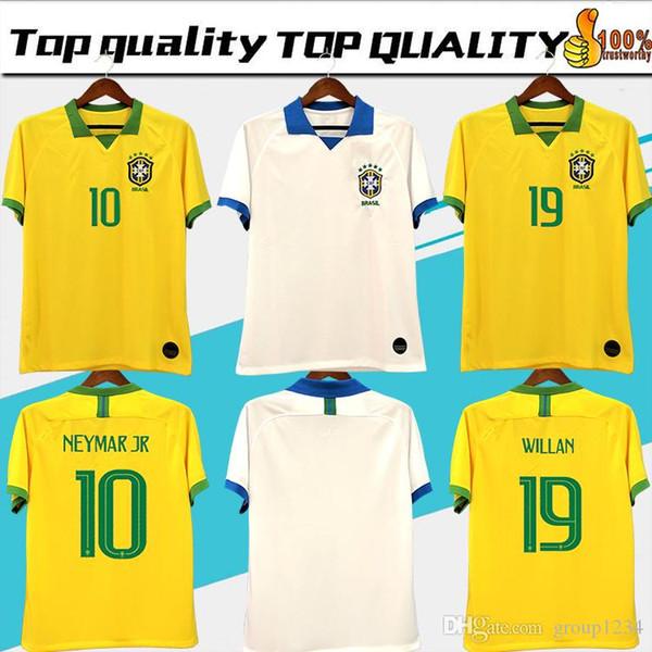 Brasil American Cup soccer jerseys Brazil MEN Jersey 19 2020 JESUS COUTINHO FIRMINO MARCELO football kit shirt camisa Football Shirt G.JESUS