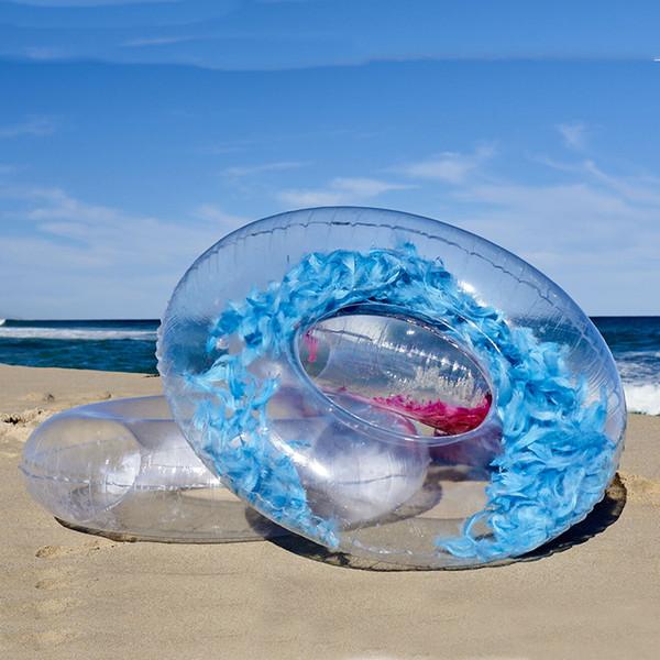 Projeto o mais novo Penas Infláveis Natação Anel Azul Rosa Adulto Criança Nadar Tubo Círculo Praia Verão Festa de Água Piscina Brinquedos