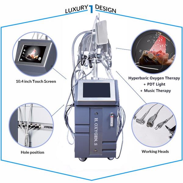 Portátil de Alta Qualidade Bio Oxigênio Spray e Infundir Bio-photon RF Ultrasonic Multi-Funcional Microcorrente Oxigênio Facial Máquina de Beleza
