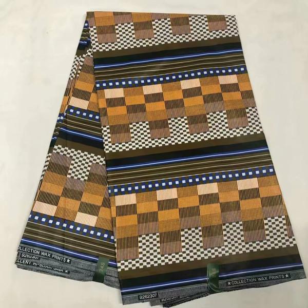Haute qualité prix de gros de la cire africaine java hollandaise imprime des tissus (6 mètres lot) tissu de cire java coton ankara africain! OT-4170