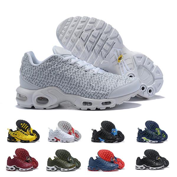 Großhandel 2019 Neue Mode Wmns Plus Tn Se Herren Laufschuhe Günstige Hihg Qualität Tn Plus Weiß Gelb Rot Blau Sport ManTrainers Sneakers Schuh Von