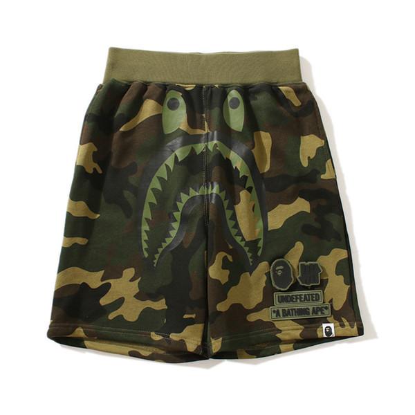 SUMMER Tide Brand Shark Camouflage Black Shorts Tide Men Sports Fashion High Street Five Pants Free Shipping