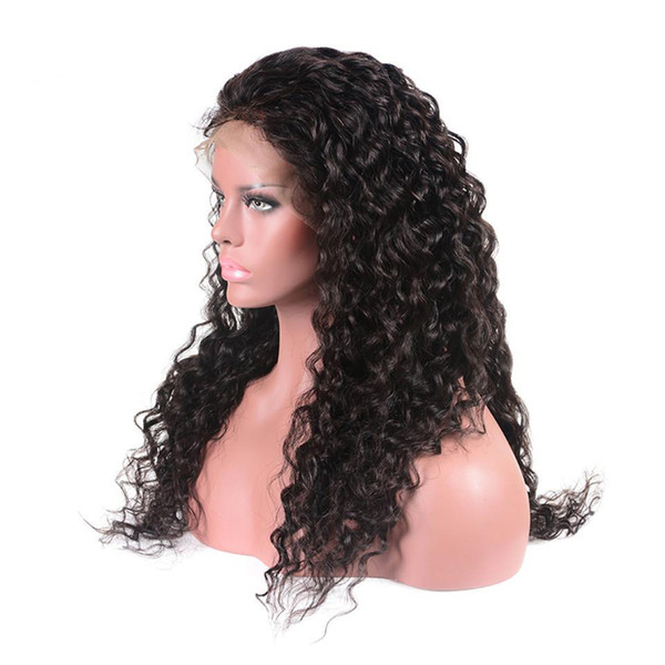 Su Dalgası Doğal Renk Virgin Remy İnsan Saç Peruk Ücretsiz Bölüm brezilyalı Su Dalga Dantel Ön İnsan Saç Tam Peruk Xiuyuanhair
