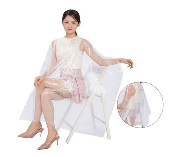 best selling 130*90cm Disposable Hairdressing Capes Waterproof Cloth Gown Barber Cape Hair Cutting Apron Transparent Hairdressing Cloth