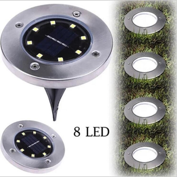 Solar Buried Light 8 LED Boden U-Licht Lampe für Outdoor-Pfad Garten Rasen Hof Landschaft Haus Dekoration Lampe LT687