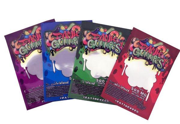 best selling 500MG Dank Gummies Bag Edibles bags Packaging Worms Edibles Bears Cubes Gummy bags Wholesale