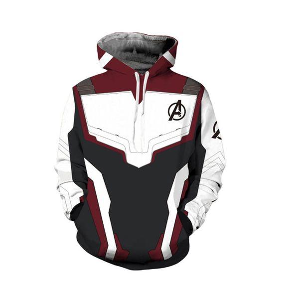Marvel The Avengers 4 Endgame Quantum Realm Cosplay Sudaderas con capucha Hombres Slipover sudadera Superhéroe cómoda