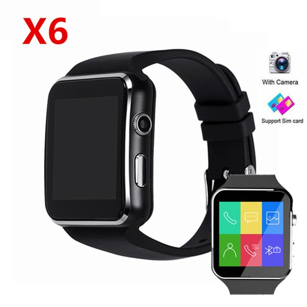 X6 PK Q18 Z60 V8 A1 DZ09 Smart Watches For Android Phone Bluetooth Smartwatch With Camera Touch Screen Health Smart Watches TF Sim Card Slot