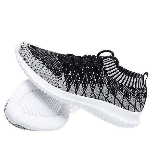 Hot Sale-Men Sneakers Running Shoes 2019 Maschile Mesh traspirante Sport all'aria aperta Scarpe da corsa Nero Scarpe da ginnastica Masculino Scarpe da uomo