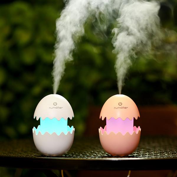 Nueva Broken Egg precioso humectador del coche purificador de aire purificador de aire del coche Inicio niebla FoggerAtomization la máquina del fabricante USB humidificador