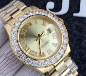 New Top Luxury Diamond Calendar Men&039;s Watch Gold Watch 41mm Sapphire Mirror Classic Elegance