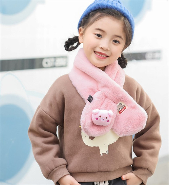 Kids Fashion Scarf Pig Wraps Cute Shawl Signature Warm Ring Cotton Scarves Children Scarves Baby Neck Scarf