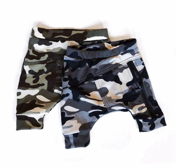 Summer Kids Baby Boy Camouflage Pants shorts camo Bottom Kids Trousers Camo Zipper Pants Harem Pants Boy Cotton Clothes 0-4years