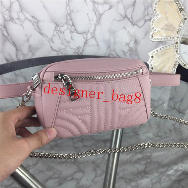 bolsa de diseñador de moda de la plata de la correa ajustable cadena de bolsillo paquete de Cruz cuerpo bolsa con cremallera de 19 cm de tamaño bolsillo de la manera