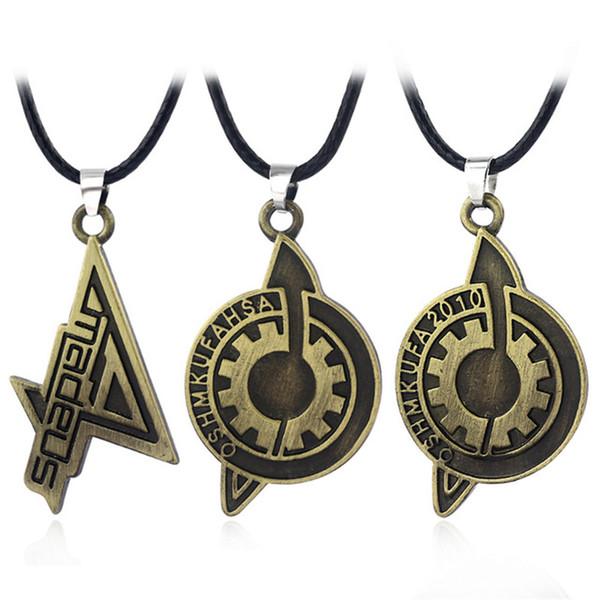 Hot Game Steins Gate Badge Colliers Haute qualité Antique Bronze Amadeus Makise Kurisu Labmen Le destin de La Pierre Collier