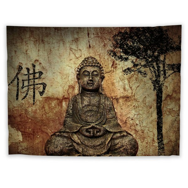 Buddha Religion Wall Hanging Tapestry Psychedelic Bedroom Home Decoration