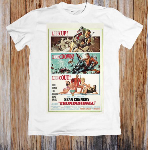 Thunderball 60'S Retro Poster Unisex Tişört Serin Casual Gurur Tişörtlü Erkek Unisex Yeni Moda Tişört Gevşek Boyutu Üst Ajax