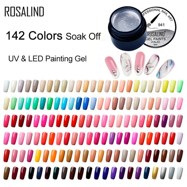 5ML Pittura Gel Vernice 142 colori Gel Nail Polish Set per Manicure DIY Top Base Coat Hybird Design di Nail Art Primer