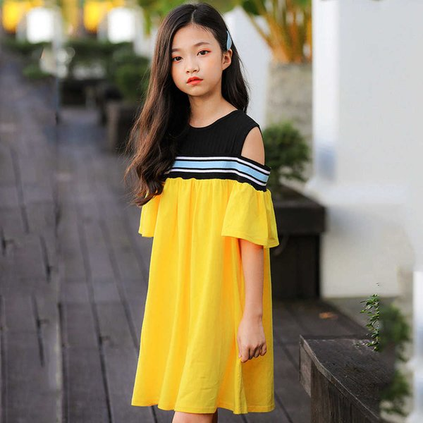 Teenage Girls Dresses Summer 2019 Cotton Kids Girl Princess Party Dress Children Clothes For Size 456 7 8 9 10 To 12 14 15 YearsMX190822