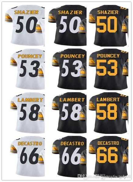 best cheap 0b2f6 2c2bb 2018 Custom Pittsburgh Steeler Jersey Men Women Youth #50 Ryan Shazier 53  Maurkice Pouncey 58 Jack Lambert 66 David DeCastro Limited Jerseys From ...