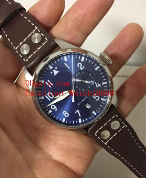 6 colour Hot Sell watches 46 mm Big Pilot'S 7 Days IW500916 IW500901 IW501005 IW501902 Automatic Mechanical Men's Wristwatches Christmas