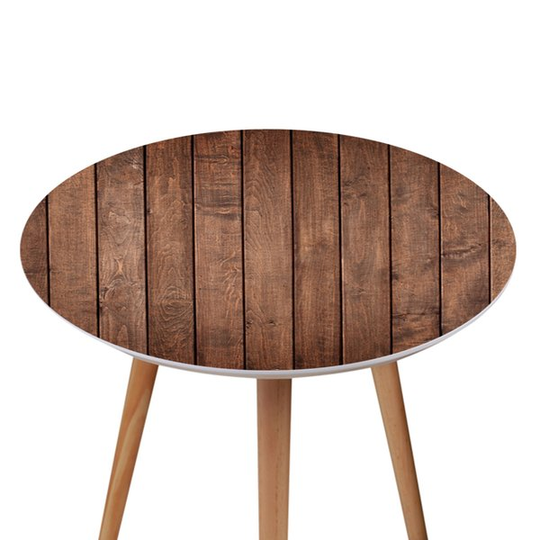 Amazing 3D Retro Wood Grain Pattern Table Sticker Film Coffee Table Decor Round Shape Stickers Waterproof Self Adhesive Wallpaper Sticker Discount Wall Decals Evergreenethics Interior Chair Design Evergreenethicsorg
