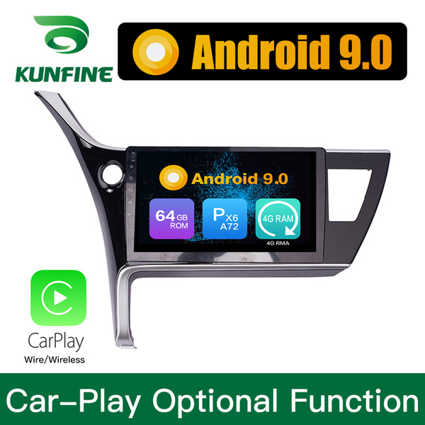 Android 9.0 Ram 4G Rom 64G PX6 Cortex A72 Car DVD GPS Multimedia Player Car Stereo Per Toyota Levin Corolla 2017 (Nord America Version) Lui