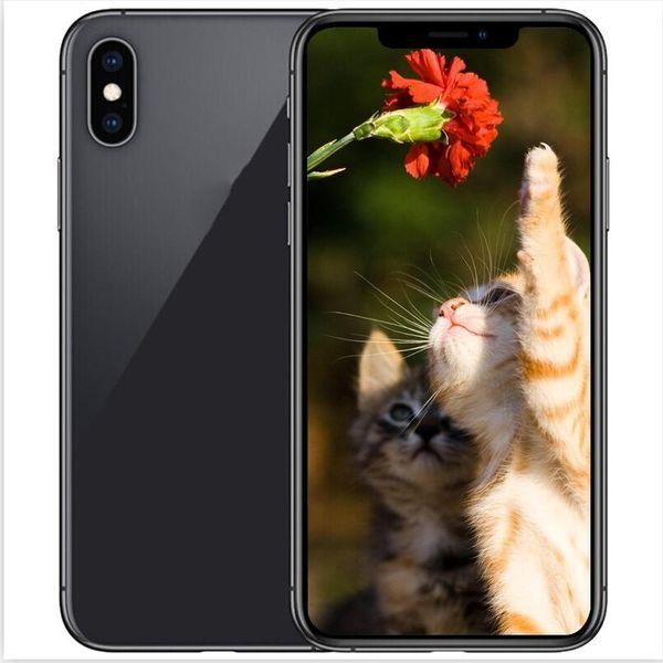 ERQIYU goophone X Xs Max Dual sim Touch ID unlocked 6.5 inch Octa Core shown 4G LTE 4G RAM 128GB ROM Smartphones